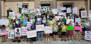 PDA/coalition activists rally in St Petersburg, FL for the Voting Rights Act, Sept. 17, 2021